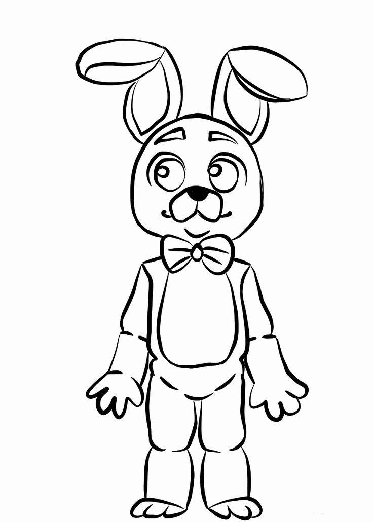 Five Nights at Freddy's Coloring Book Fresh Bonnie Fnaf ...