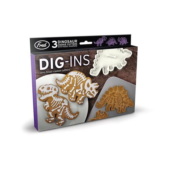 "DIG-INS DINOSAUR COOKIE CUTTERS FRED ""FREE POSTAGE"" DIGINS"