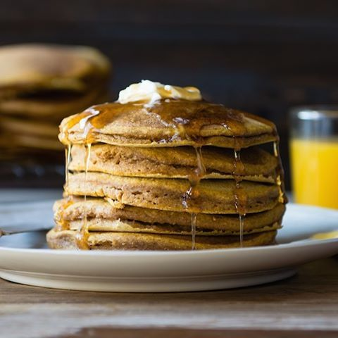 Cake for breakfast! Waking up and making these tomorrow! 😴  PUMPKIN WHOLE WHEAT PANCAKES  Looking for a fun, fall-inspired breakfast dish that your friends and family will love? These pumpkin pancakes are sure to fit the bill! Not only are these whole grain pancakes absolutely scrumptious, but the pumpkin adds a healthy dose of fiber, vitamin A, and beta-carotene. You can serve them up the traditional way with maple syrup and a pat of butter, or top them with a dollop of homemade jam or…
