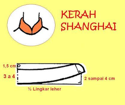 Hasil gambar untuk pola kerah shanghai
