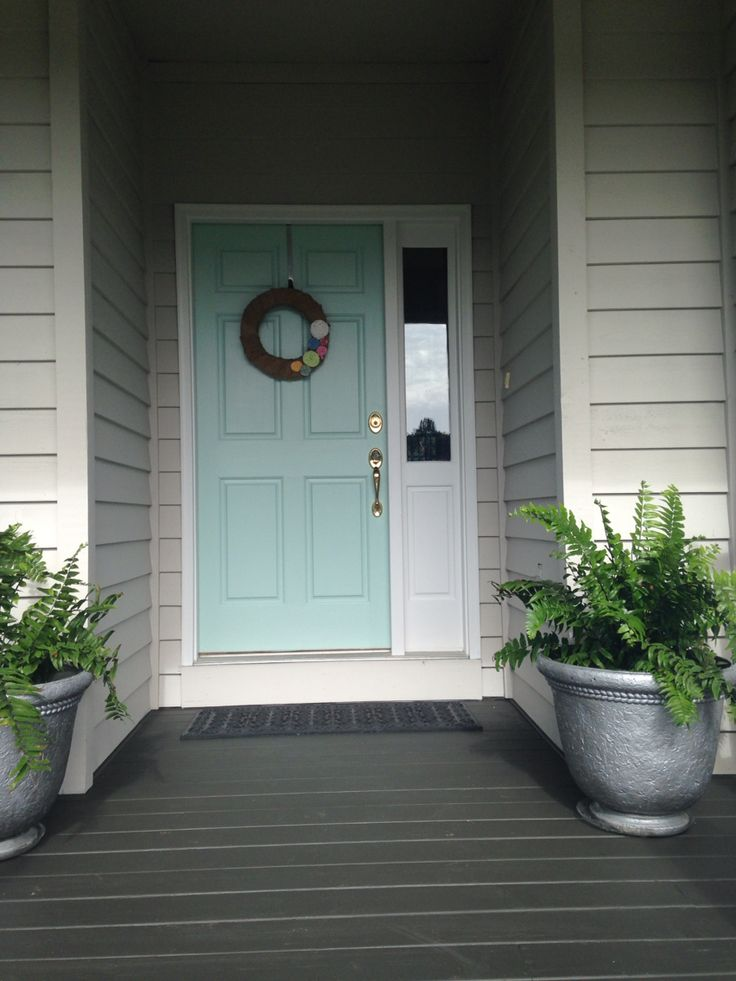 Sherwin williams waterscape front door outdoors in 2019 - Sherwin williams exterior paints ...