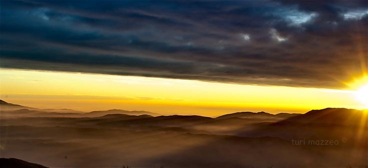 tramonto dal Terminillo