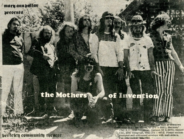 Frank Zappa and the Mothers of InventionFrank Zappa, 60 S Artists, Beer Titties, Sensationn 60 S, Rocks Stars, Music Moving, Rocks Musicians