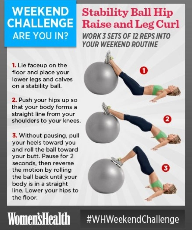 Stability Ball Hamstring Curl T Nation: Stability Ball Hip Raise And Leg Curl.