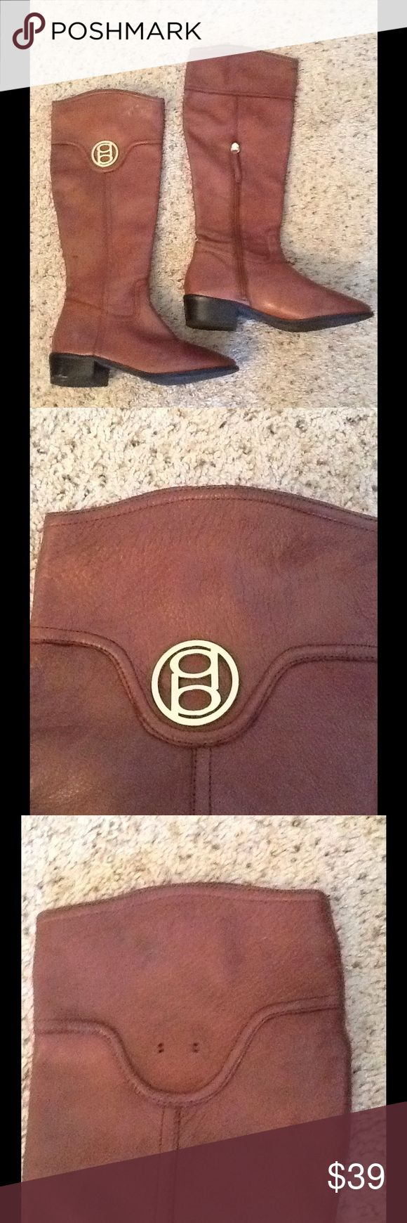 BEBE TALL BROWN LEATHER RIDING BOOTS sz 10 D&G Dolce & GABBANA 2 LOGO Women's cap lot.  (Will also fit a sz small mens).  Both are Olive green, one has stud accents, one is purposely distressed.  Excellent condition, Just gorgeous!  Will ship right away. Check out my other designer items bebe Shoes Combat & Moto Boots