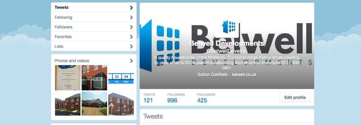 Follow Belwell Developments on Twitter for all our latest news and updates - https://twitter.com/BelwellDevelop #construction #housebuilding #build #building #home #twitter