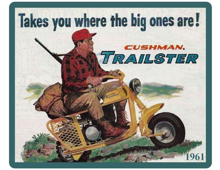 1961 Cushman Trailmaster Motor Scooter Refrigerator / Tool Box Magnet