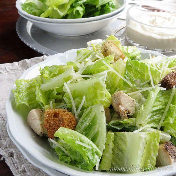 Grilled Chicken Caesar Salad – 2 Net Carbs via @lowcarbmaven