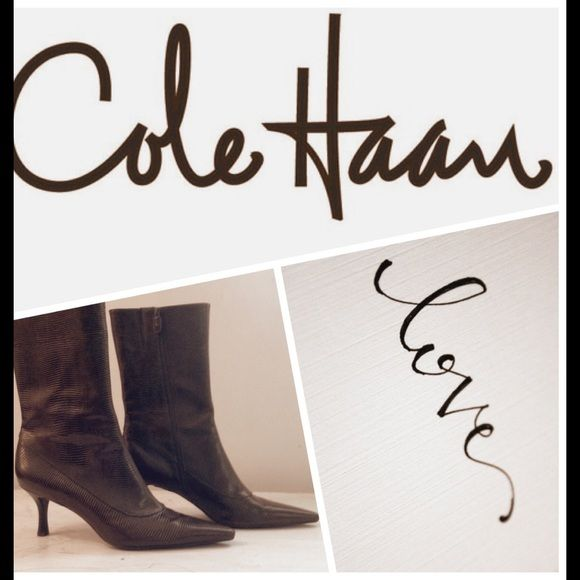 Cole Haan Brown Leather Ankle Boots Cole Haan Brown Leather Ankle Boots. Beautiful boots with 3 inch heel!!! Cole Haan Shoes Ankle Boots & Booties
