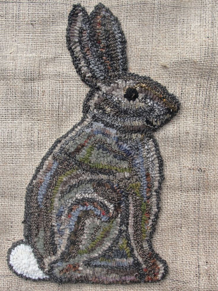 Art Spirit: owl and rabbit  great hooking to provide contours