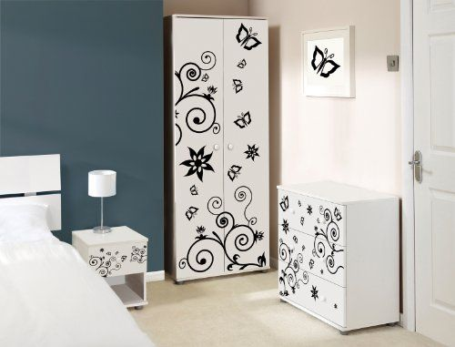 Butterfly Design Childrens/Kids White Bedroom Furniture Sets Expressive  Furniture Http://www