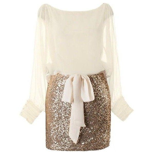 Seasonal Sparkle Dress ($180) ❤ liked on Polyvore featuring dresses, sparkly dresses, bateau neck dresses, white boatneck dress, white slit dress and white dress