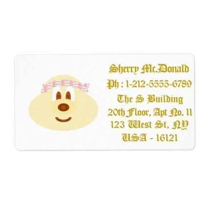 White Band Hat 鲍 鲍 Shipping Labels 3 (Large)  Large Mailing Labels