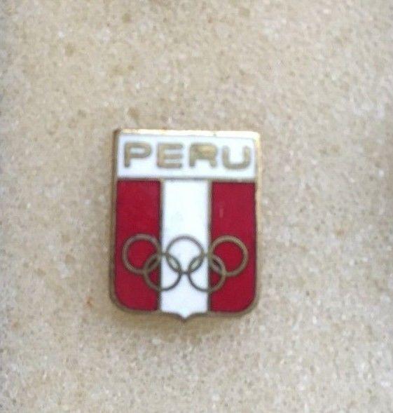 Peru NOC Olympic Team generic pin 90'