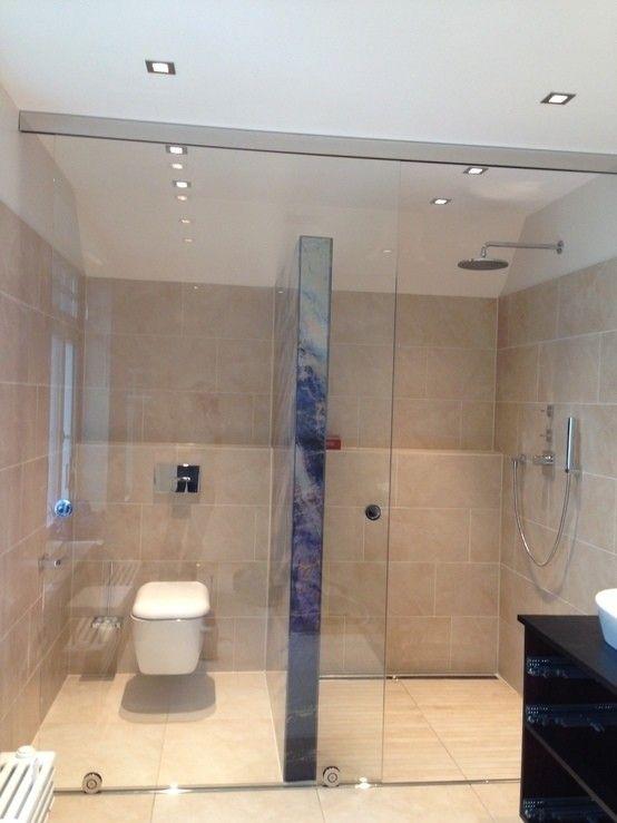 LED Glas Trennwand Mit Glasschiebetür : Ausgefallene Badezimmer Von RW  Lifestyle   Hellglasmanufaktur