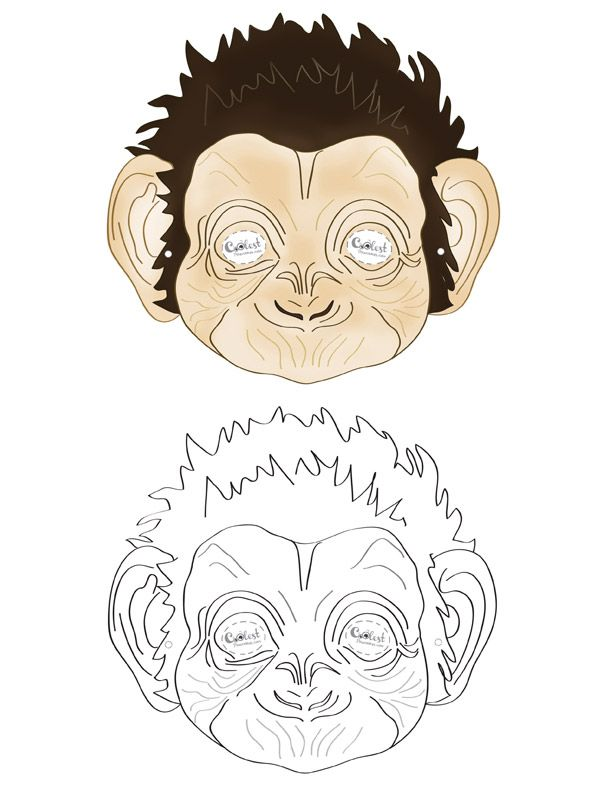 Printable Monkey Mask   Coolest Free Printables  Free Printable Face Masks