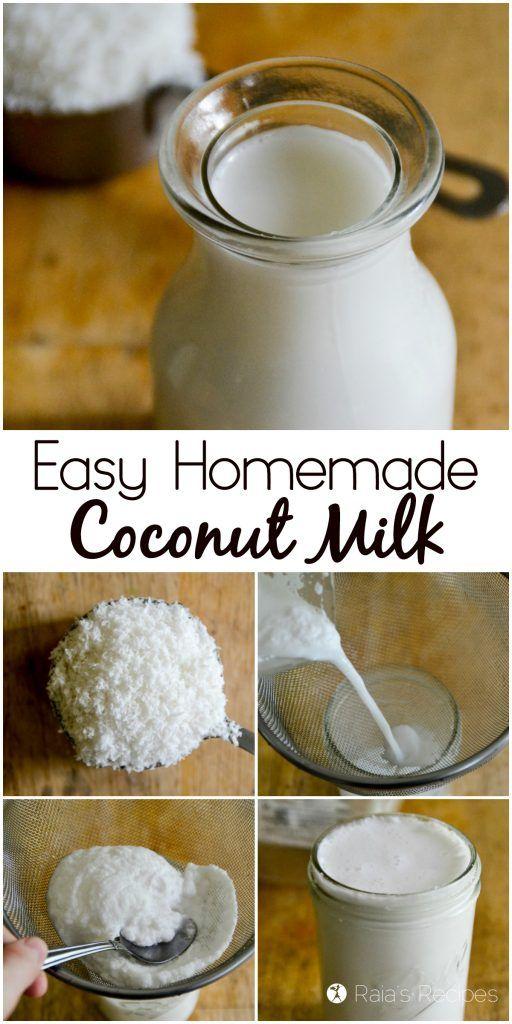 Easy Homemade Coconut Milk // DeliciousObsessions.com