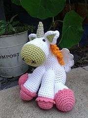 Ravelry: moonstone the unicorn pattern by Sally Titterton