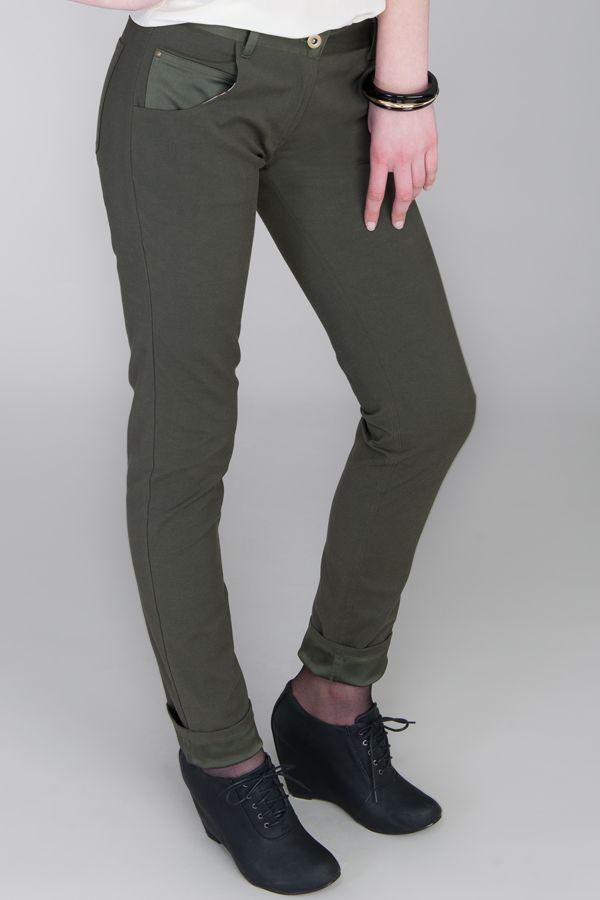 URBAN TROUSER Colour: Khaki Green www.beau.co.nz