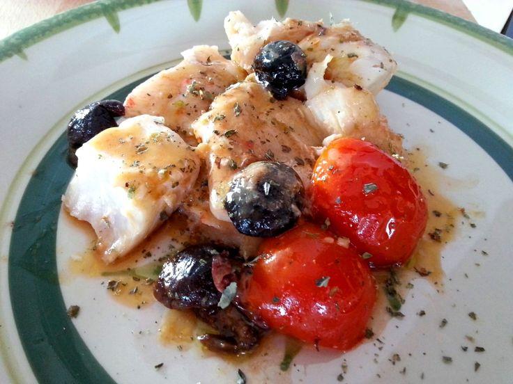 Receta de Filetes de perca en salsa – Como preparar perca – Pesce persico alla pizzaiola - Perch fish in tomato sauce