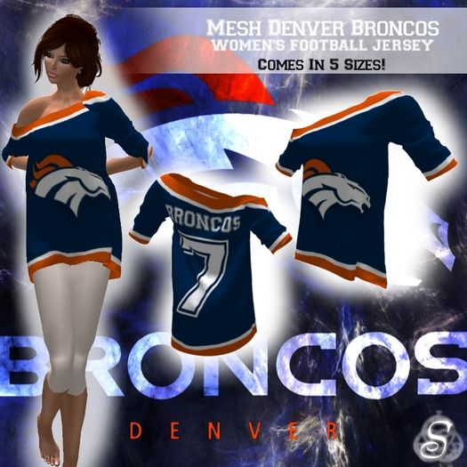 ~<Song>~ *Mesh* NFL Denver Broncos Women's Football Jersey