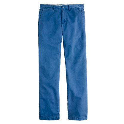 Broken-in chino in urban slim fit: Color Call, J Crew, Summer Pants, Products