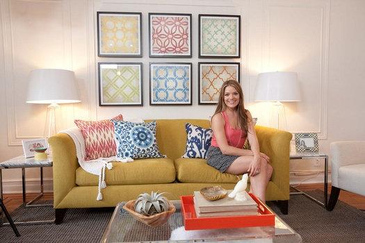 cute family room-love the fun pops of color!: Idea, Pattern, Design Blog