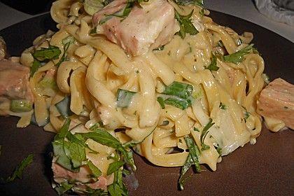 Lachs - Sahne - Sauce für Tagliatelle 1