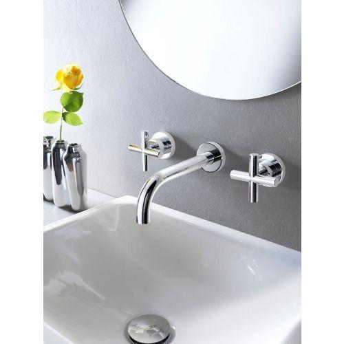 Hotbath Chap wastafelmengkraan 3 gats inbouw C005 chroom - C005CR - Sanitairwinkel.nl