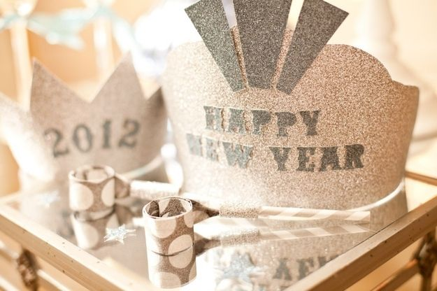 Make crowns for your guests. | 51 DIY Ways To Throw The Best New Year's Party Ever