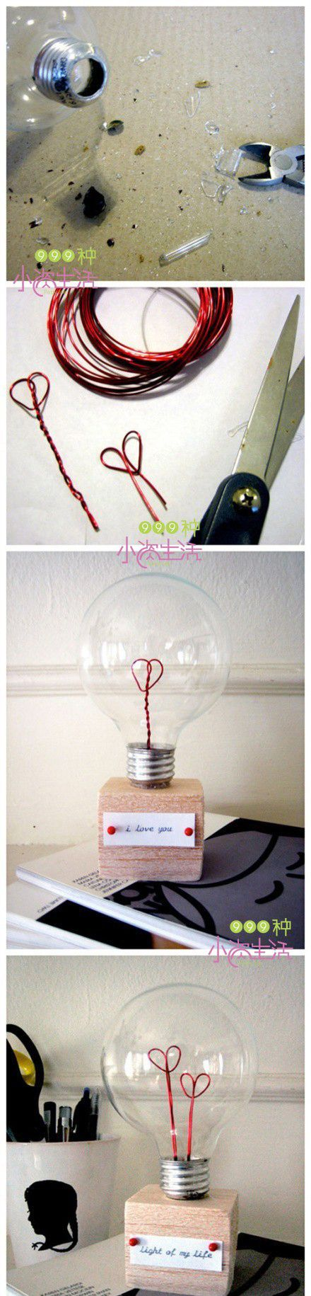 DIY Light Bulb of Love