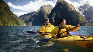 Kayak adventure, Milford Sound.