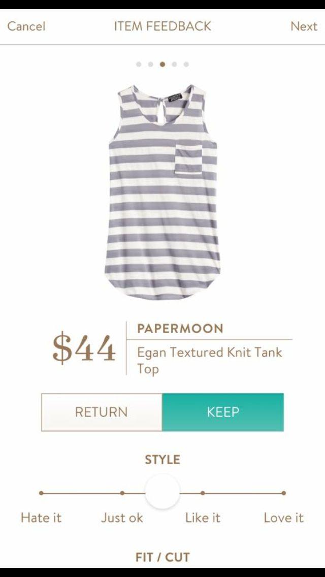 Great stripes! Papermoon Egan Tank Top.