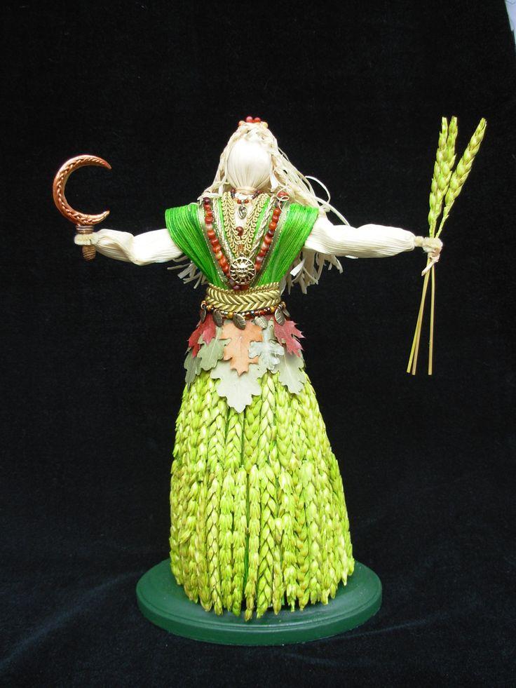 wheat and oakleaf harvest goddess