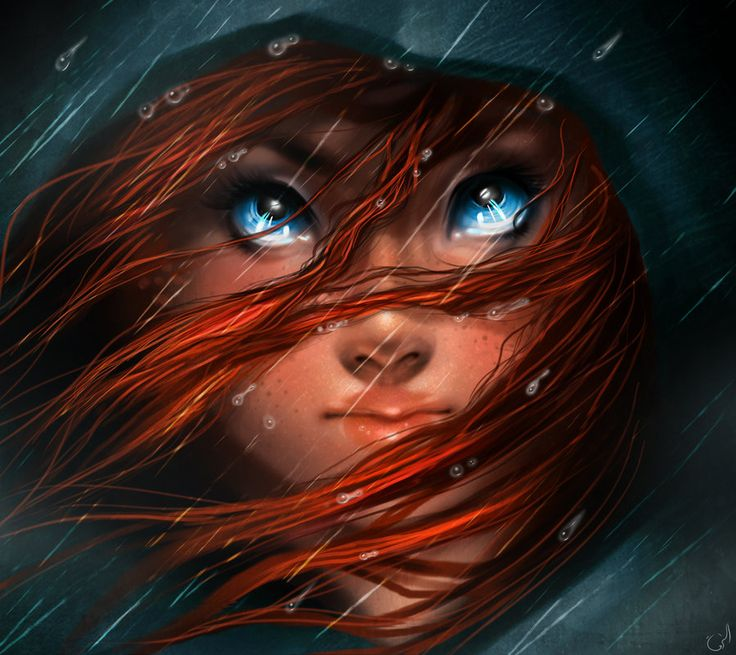 """Blue eyes Girl illustration / Ragazza dagli occhi blu, illustrazione - """"Brave"""", Art by Istebrak on deviantART"""