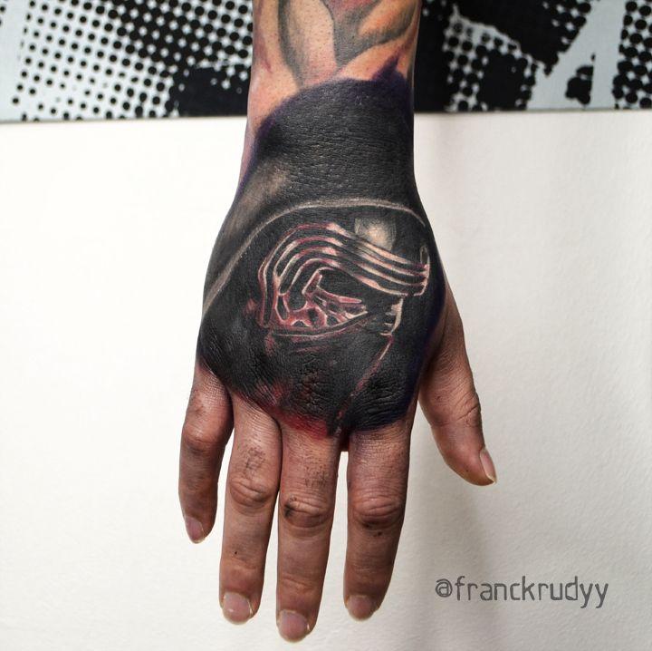 kylo ren tattoo portrait by frank rudy in philadelphia pa tattoos by frank rudy pinterest. Black Bedroom Furniture Sets. Home Design Ideas