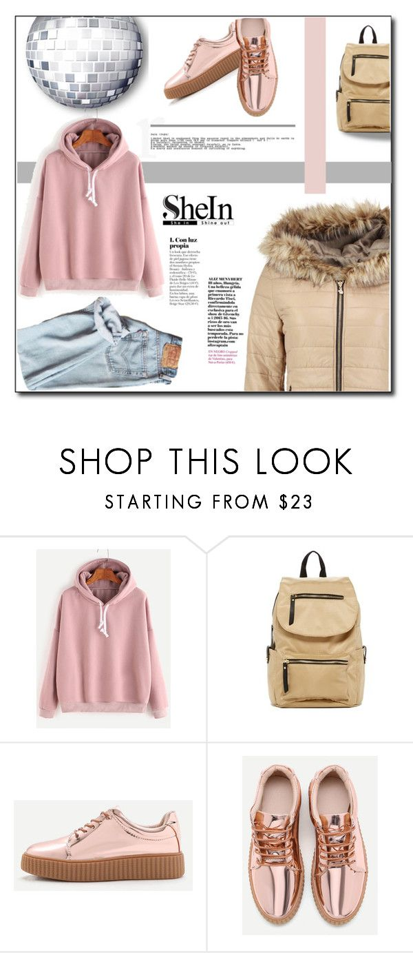 """""""SheIn ! (casual)"""" by emapolyvore ❤ liked on Polyvore featuring WithChic, Madden Girl, Boohoo, jeans, backpack, boohoo and shein"""