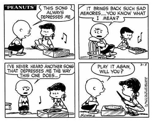 Why Do We Need Sad Music Sometimes Classic Peanuts