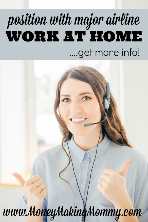 If you're looking for work at home and like the idea of helping others with their flight plans and airline tickets - then this might be the perfect fit for you. Get details on working for this major airline that offers telecommuting jobs. MoneyMakingMommy.com