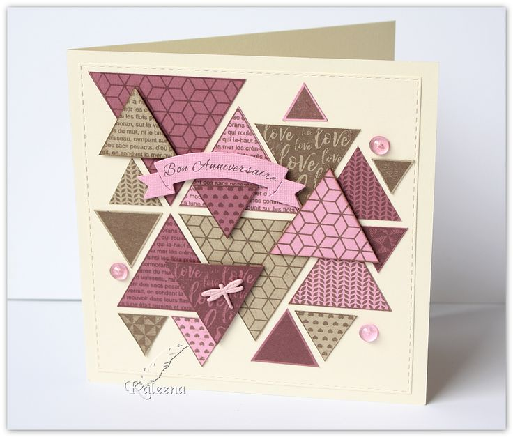 Card Challenge #1 - use at least 5 triangles on your card