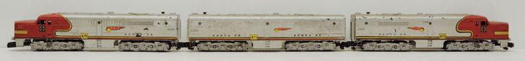 3 Piece Gilbert #American #Flyer Santa Fe Locomotive A B Units Power Dummy 470 471 473 at #RuthHannas on Etsy