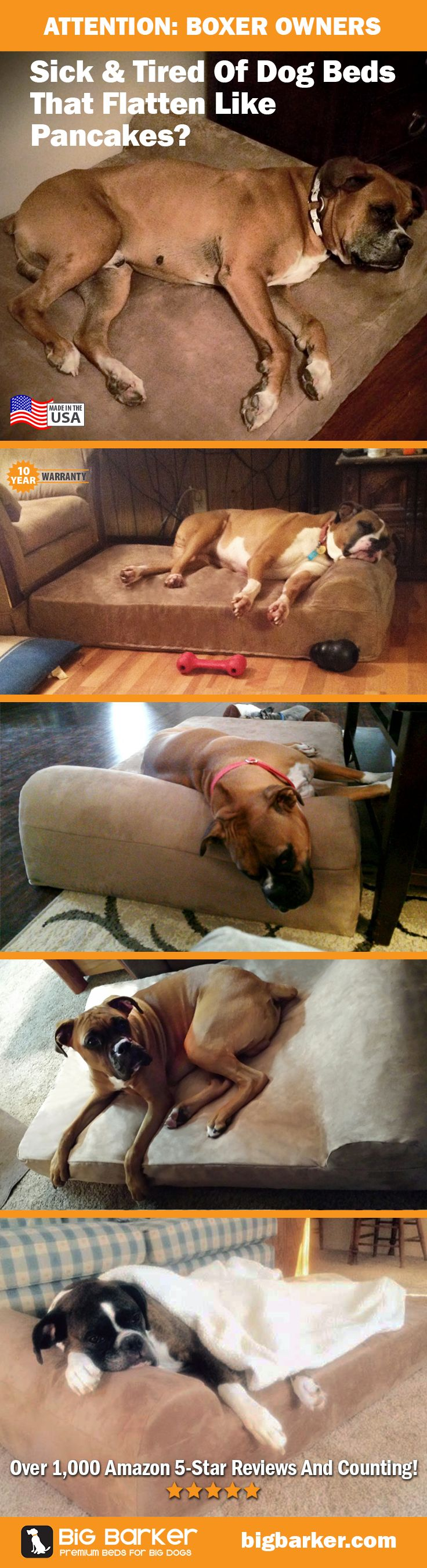 Boxer dog bed by Big Barker | Perfect for big dogs like boxers. See more pictures at http://bigbarker.com