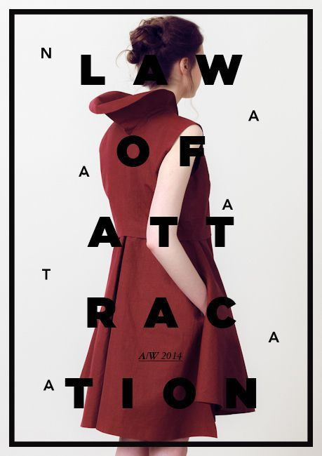 Law of attraction - by unknown - Mooi door de combinatie met het plaatje en de simpele typografie.