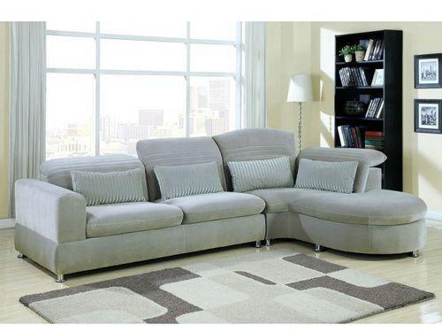Stunning Sectional Sofa Light Gray