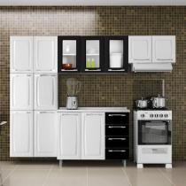 Cozinha Compacta Itatiaia Criativa com Balcão 13 Portas 4 Gavetas Aço