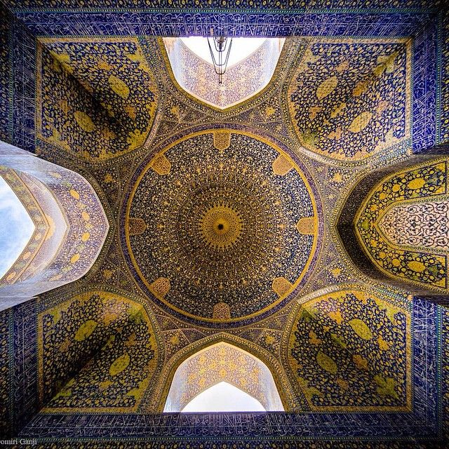 Symmetries are a vital element to Iranian architecture.   This is the ceiling of Imam (Shah) Mosque in #Isfahan   Photo credit: Mohammad Reza Domiri Ganji Photography   #AwesomeIran  #AwesomeIran   #Symmetry #IranianArchitecture #IslamicArchitecture #ImamMosque #ShahMosque #MasjidShah #Tiles    #Regram via @awesome_iran