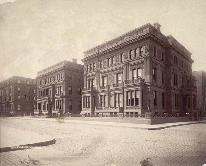 The Vanderbilt Triple Palace: 640 and 660 Fifth Avenue and 2 West 52nd Street: Demolished b.) 1882 o.) given to Willian H Vanderbilt's daughters