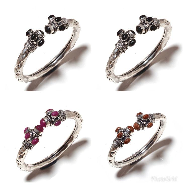 Gemstone Bracelet # Cuff Bracelet # Beaded Bracelet # Adjustable Bracelet # Vintage Jewelry # Traditional Jewelry # Indian Jewelry # Gift by Realvaluejewels on Etsy