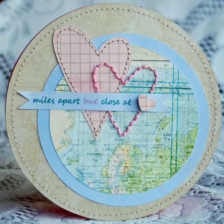 Card/craft/project for kids and far away loved ones.  I am really wanting to stitch on a map. -jl
