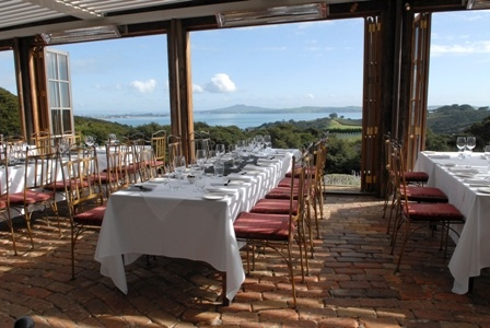Waiheke Island, New Zealand - Mudbrick Vineyard.